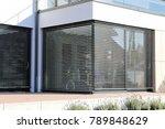 window with modern blind ... | Shutterstock . vector #789848629
