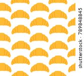 seamless pattern with croissant ...   Shutterstock .eps vector #789848845