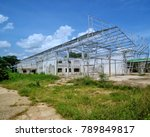 steel frame of old factory | Shutterstock . vector #789849817