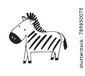 cute hand drawn nursery poster... | Shutterstock .eps vector #789850075