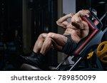 brutal sexy strong bodybuilder... | Shutterstock . vector #789850099
