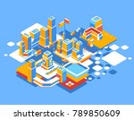 vector colorful illustration of ... | Shutterstock .eps vector #789850609