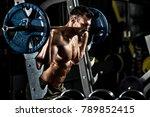 guy bodybuilder   execute... | Shutterstock . vector #789852415
