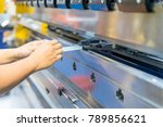 operator working cut and... | Shutterstock . vector #789856621