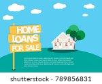 home loans. interest zero... | Shutterstock .eps vector #789856831