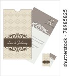 wedding invitation card | Shutterstock .eps vector #78985825
