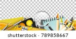seamless border with school...   Shutterstock .eps vector #789858667
