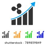 ripple trend up icon. vector... | Shutterstock .eps vector #789859849