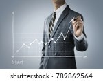 business growth  progress or... | Shutterstock . vector #789862564