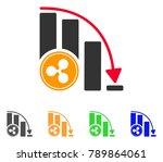 ripple falling acceleration... | Shutterstock .eps vector #789864061
