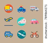 icon set about transport with... | Shutterstock .eps vector #789864271