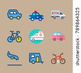 icon set about transport with... | Shutterstock .eps vector #789864325