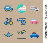 icon set about transport with... | Shutterstock .eps vector #789864355