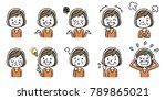 senior women  set  variation | Shutterstock .eps vector #789865021