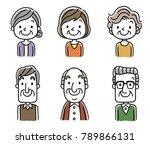 senior men and senior women | Shutterstock .eps vector #789866131