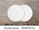 white circle paper and space... | Shutterstock . vector #789870751