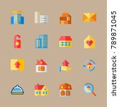 icon set about travel with... | Shutterstock .eps vector #789871045