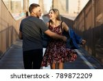 beautiful young man and woman... | Shutterstock . vector #789872209
