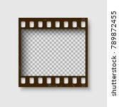 frame of 35 mm filmstrip. empty ... | Shutterstock .eps vector #789872455