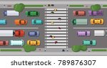 vector road with cars in front...   Shutterstock .eps vector #789876307