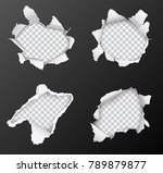 set of vector realistic holes... | Shutterstock .eps vector #789879877