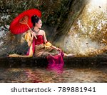 thai women wear thai dress... | Shutterstock . vector #789881941
