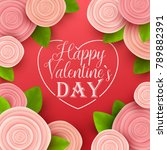 valentine s day background.... | Shutterstock .eps vector #789882391