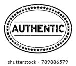 grunge black authentic oval... | Shutterstock .eps vector #789886579