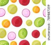 vegan food seamless pattern   Shutterstock .eps vector #789887359