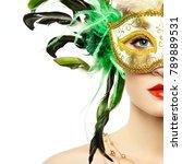 beautiful young woman in...   Shutterstock . vector #789889531