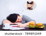 overweight obese woman with... | Shutterstock . vector #789891049