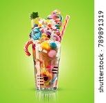 monster shake  freak caramel...   Shutterstock . vector #789891319