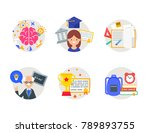 school  education color vector... | Shutterstock .eps vector #789893755