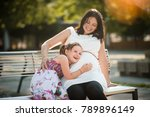 young smiling happy girl... | Shutterstock . vector #789896149