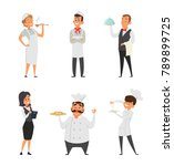 professional staff of the... | Shutterstock .eps vector #789899725