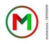 m letters logo   Shutterstock .eps vector #789900049