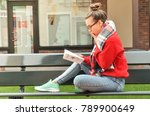 a pretty  asian girl wearing... | Shutterstock . vector #789900649
