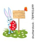Easter Greeting Card Hare Big...