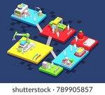 vector isometric illustration... | Shutterstock .eps vector #789905857