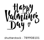 happy valentines day vintage... | Shutterstock .eps vector #789908101