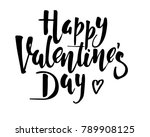 happy valentines day vintage... | Shutterstock .eps vector #789908125