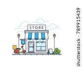 online store building. store... | Shutterstock .eps vector #789915439
