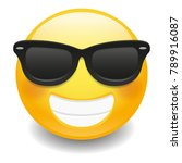 emoji laugh happy sunglasses... | Shutterstock .eps vector #789916087