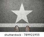 businessman shoes stand on road ... | Shutterstock . vector #789921955
