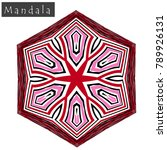 geometrical flower mandala sign....   Shutterstock .eps vector #789926131