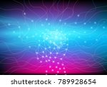 abstract digital and... | Shutterstock .eps vector #789928654
