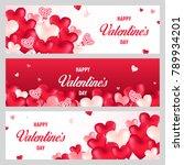 valentine's day banner. vector... | Shutterstock .eps vector #789934201
