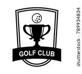 golf sport logo | Shutterstock .eps vector #789934834