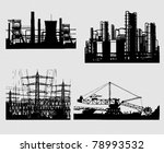 industrial silhouettes | Shutterstock .eps vector #78993532