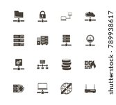 network servers icons. perfect... | Shutterstock .eps vector #789938617